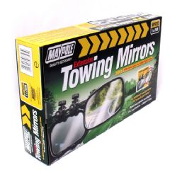 2 x Maypole E Approved Towing Mirrors - 8323